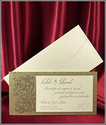 Svatební oznámení vzor 2571 s reliéfními ornamenty