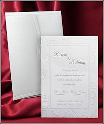 Jednoduché svatební oznámení vzor 2573