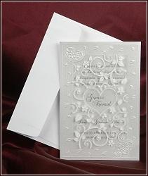 Dvojdílné svatební oznámení 2575 s fólií.