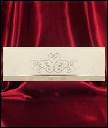 Luxusní svatební oznámení 2588 se stříbrnou ražbou