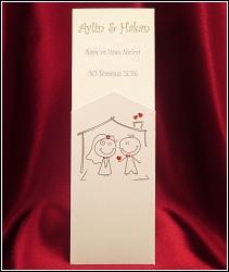 Vysouvací veselé svatební oznámení 2592 s obrázkem novomanželů.
