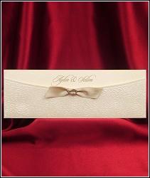 Vysouvací svatební oznámení 2597 s podkůvkou a stužkou