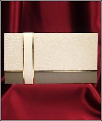 Luxusní svatební oznámení 2616 s raženými ornamenty