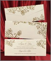 Jednoduché svatební oznámení 2622 s florálními ornamenty