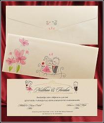 Malované svatební oznámení 2644 s milenci