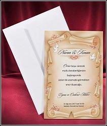 Svatební oznámení vzor 2650 s bílými holubicemi