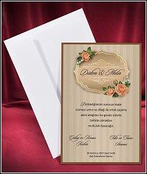 Svatební oznámení vzor 2654 v retro stylu