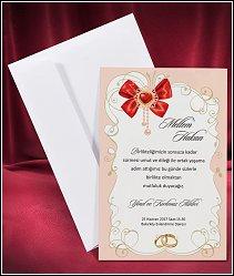 Svatební oznámení vzor 2655 se starorůžovým okrajem