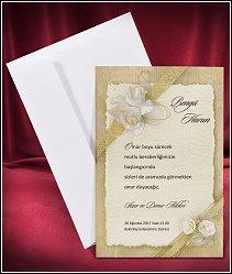 Svatební oznámení vzor 2660 s bílými růžemi