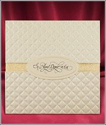Svatební oznámení ve formě karty s ozdobným polštářkovým přebalem 2685.