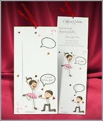 Veselé pohyblivé svatební oznámení s kreslenými postavičkami ve stylu Vezmeš si mě? Ano! 2687.