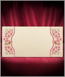 Vysouvací dvoudílné svatební oznámení s jemnými růžovými kytičkami 2697.