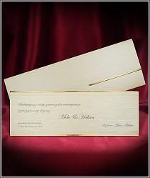 Svatební oznámení s luxusní předávací obálkou 2698.