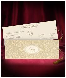Vysouvací svatební oznámení se semišovým povrchem 2713.