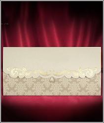 Jednodílné rozkládací svatební oznámení s perličkou ve tvaru slzičky 2716.