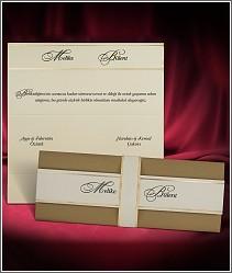 Rozkládací svatební oznámení ve formě moderní listiny 2729.