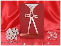 Rudé svatební oznámení vzor 3108