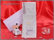 Svatební oznámení s fialovými kvítky hortenzie vzor 3133
