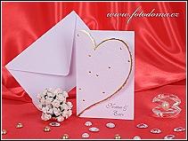 Svatební oznámení vyrobené z matného bílého polokartonu vzor 3138