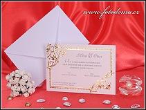 Svatební oznámení se zlatými ornamenty vzor 3186