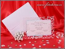 Svatební oznámení s průhledným rámem vzor 3206