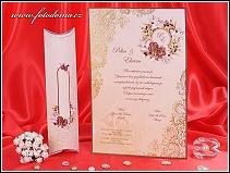 Svatební oznámení ve formě listiny vzor 3221