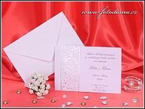 Svatební oznámení ve formě obdélníkové karty vzor 3224