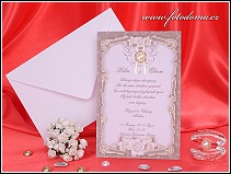 Svatební oznámení ve formě jednoduché karty vzor 3226