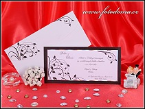 Černobílé svatební oznámení karta vzor 3227