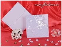 Otevírací svatební oznámení se srdíčky vzor 3235