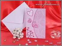 Rozkládací svatební oznámení s motýlky vzor 3239