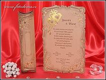 Svatební oznámení ve tvaru starobylé listiny vzor 3245