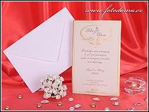 Svatební oznámení zlatou ražbou zdobená karta vzor 3254