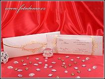 Luxusní svatební oznámení s noblesní předávací obálkou vzor 3256