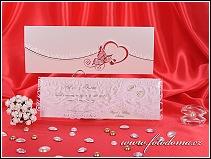 Luxusní svatební oznámení se stříbrným motýlem na předávací obálce vzor 3257
