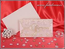 Něžné svatební oznámení v průsvitném přebalu z pergamenu vzor 3259