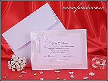 Svatební oznámení karta z matného bílého polokartonu vzor 3260
