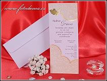 Svatební oznámení karta z bílého polokartonu vzor 3269