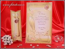 Svatební oznámení listina s brkem vzor 3272