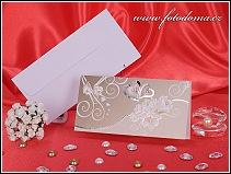 Otevírací svatební oznámení z bílého matného polokartonu vzor 3277
