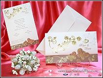 Svatební oznámení listina s motýlky vzor 3297