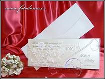 Luxusní svatební oznámení s průhledným přebalem vzor 3304