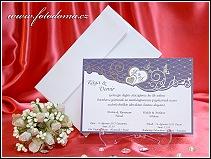 Svatební oznámení karta z matného bílého polokartonu vzor 3309