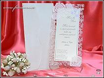 Svatební oznámení s průhledným rámečkem vzor 3311