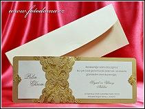 Svatební oznámení jako dvojdílná karta vzor 3327