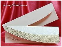 Jednoduše elegantní zlatě laděné otevírací svatební vzor 3332