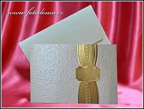 Dvoudílné svatební oznámení se zlatě metalickou textovou kartou vzor 3333