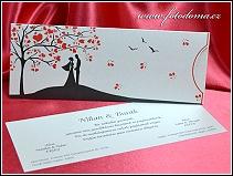 Vysouvací svatební oznámení s postavami z filmu Tima Burtona vzor 3346
