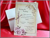 Svatební oznámení ve formě karty z matného bílého polokartonu vzor 3350