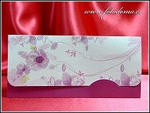 Malé rozkládací oznámení růžovofialové barvy potisku vzor 3354